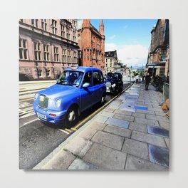 Edinburgh City's Blue Hackney Taxi  Metal Print