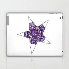 Blue/Purple Superstar Mandala Star Laptop & iPad Skin