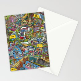 Illustrated map of Berlin Stationery Cards