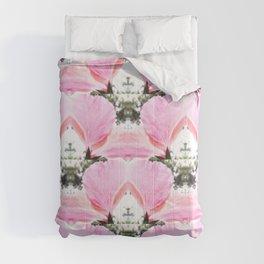 Pink Petal Shapes Comforters
