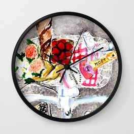 Picnic in Paris Wall Clock