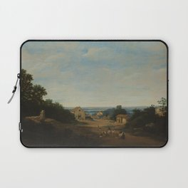Brazilian landscape with the village of Igaraçú. To the left the church of Sts Cosmas and Damian, Fr Laptop Sleeve