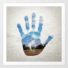 Earth Print Art Print
