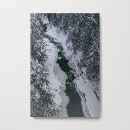Frozen River Gorge in Vermont Metal Print