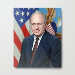 Official portrait of Secretary of Defense Richard B. Cheney Metal Print