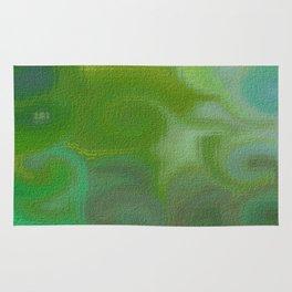 Soft Shades of Green Abstract Rug
