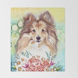 Sweet Sheltie Throw Blanket