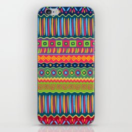 African abstract geometric pattern iPhone Skin