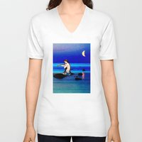 pisces V-neck T-shirts featuring Pisces by Danielle Tanimura