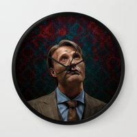 hannibal Wall Clocks featuring Hannibal by Jaimie