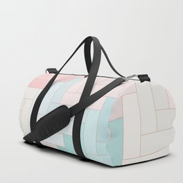 Pastel Chevron Pattern Duffle Bag