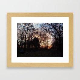 Forest Sunset Framed Art Print