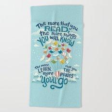 Go places Beach Towel