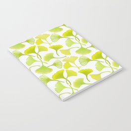First Day of Autumn Ginkgo Leaves Notebook