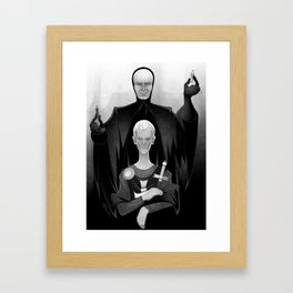 Death and the Knight Framed Art Print