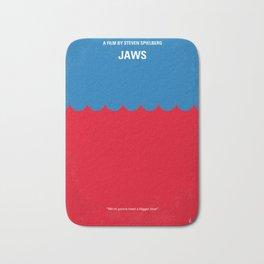 No046 My Jaws minimal movie poster Bath Mat