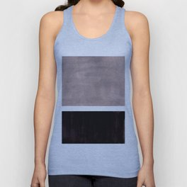 Mid Century Modern Minimalist Art Colorblock Rothko Inspired Squares Grey and Black Simple Abstract Unisex Tank Top