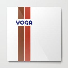 YOGA - stripe Metal Print