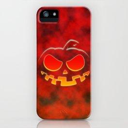 Screaming Pumpkin iPhone Case