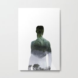 Half-Asleep Metal Print