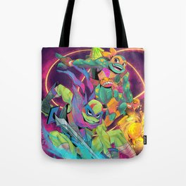 Rise turtles - Leo and Mike Tote Bag