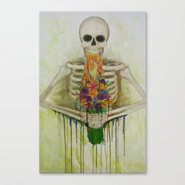 I picked you some fllloweerrgs Canvas Print