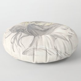 Glimmering gold crown Floor Pillow