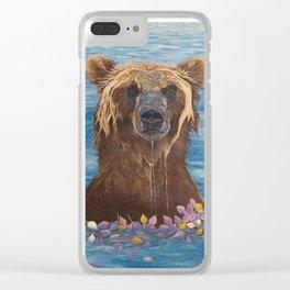 Elsa: Washing My Worries Away Clear iPhone Case
