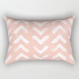 Paintbrush Arrow Pattern Blush Pink Rectangular Pillow