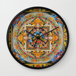 Buddhist Mandala Gold Tangka Wisdom Wall Clock