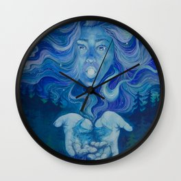 Moon Goddess Wall Clock
