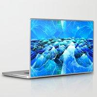 data Laptop & iPad Skins featuring Data Sea (blue) by NatalieCatLee