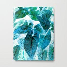 Jungle leaf - invert Metal Print