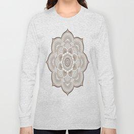 Beige & White Mandala Long Sleeve T-shirt