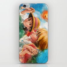 Sophie and Howl from Howl's Moving Castle Tra-Digital Painting iPhone & iPod Skin