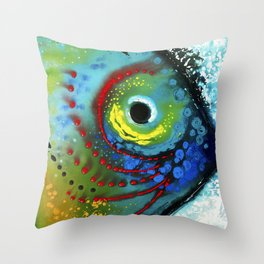 Tropical Fish - Colorful Beach Art By Sharon Cummings Throw Pillow
