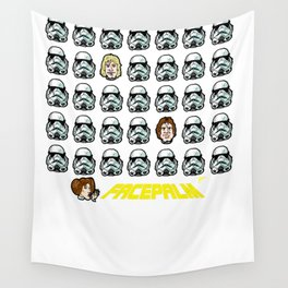 """Star Wars Facepalm! Luke Skywalker and Han Solo """"disguise"""" themselves to save Princess Leia Wall Tapestry"""