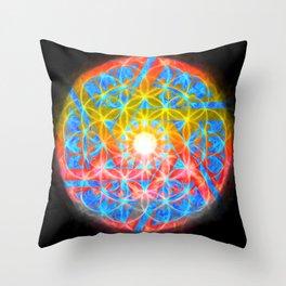 The Wheeled Flower Throw Pillow