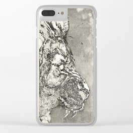 The lion Clear iPhone Case
