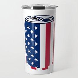 American Beer Can Flag Travel Mug