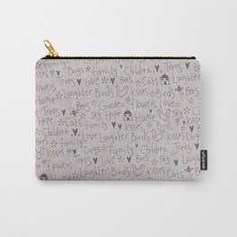 Love & Laughter Carry-All Pouch
