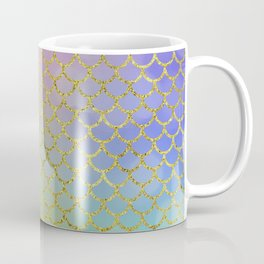 Sea-Green Mermaid Scales Pattern Coffee Mug