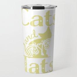 Cats and Tats Cute Cat & Tattoo Lover design Travel Mug