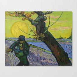 Vincent Van Gogh - The Sower Canvas Print