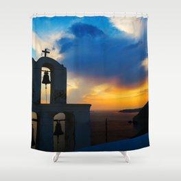 Magical Santorini Shower Curtain