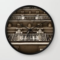 talking heads Wall Clocks featuring Heads by Cwenar