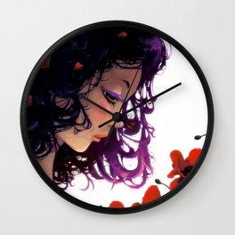 Les fleurs rouges... Wall Clock
