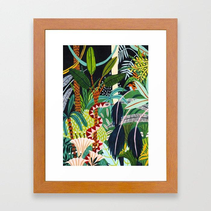 The Jungle at Midnight Framed Art Print