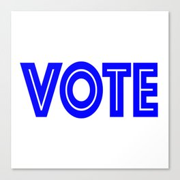 Vote Canvas Print