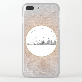 Cairo, Egypt (Giza), Africa City Skyline Illustration Drawing Clear iPhone Case